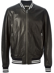 Dondup Leather Bomber Jacket Black