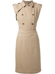 Band Of Outsiders Trench Coat Style Dress Nude And Neutrals