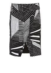 Betty Barclay Graphic Printed Skirt Black White