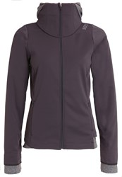 Gore Running Wear Sunlight Soft Shell Jacket Raven Brown Dark Grey