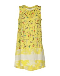 Via Delle Perle Vdp Club Short Dresses Yellow