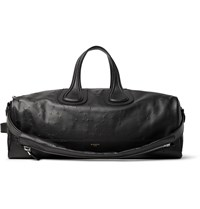 Givenchy Nightingale Distressed Leather Duffle Bag Black