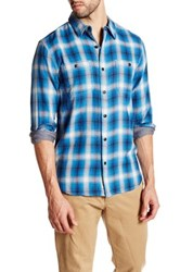 Lucky Brand Plaid Workwear Woven Shirt Blue