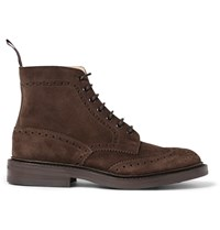Tricker's Stow Suede Brogue Boots Brown