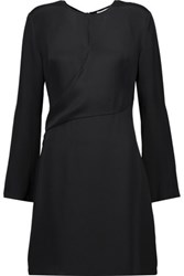 3.1 Phillip Lim Wrap Effect Silk Satin Mini Dress Black