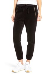 Juicy Couture Women's Silverlake Velour Track Pants Pitch Black