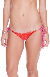 Luli Fama Women's Side Ties Ruched Bikini Bottoms