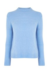 Warehouse Boucle Crew Jumper Light Blue