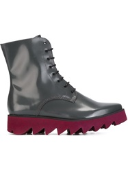 Swear Lace Up Boots Grey