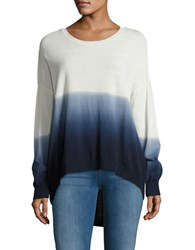 Design Lab Lord And Taylor Ombre Crewneck Sweater Blue White
