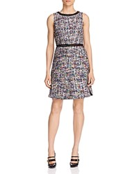 Boutique Moschino Tweed Shift Dress Multi