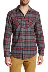 Burnside Long Sleeve Plaid Shirt Gray