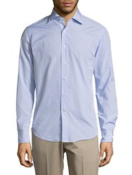 Breuer Cotton Long Sleeve Shirt Blue