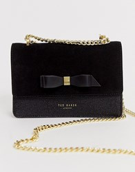 Ted Baker Omaria Bow Detail Suede Trim Mini Cross Body Bag Black