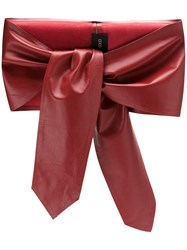 Andrea Bogosian Tied Leather Belt Red
