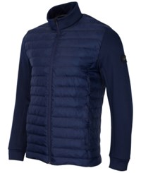 Greg Norman For Tasso Elba Men's Quilted Performance Puffer Coat Only At Macy's Night Sky