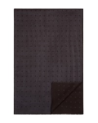 The Men's Store At Bloomingdale's Reversible Dot Scarf Dark Grey Black