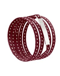 Ursul Le Lacet Parisien Burgundy Cotton Lace Up Bracelet