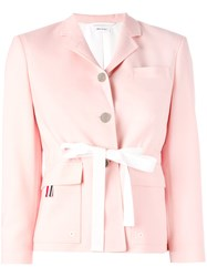 Thom Browne Fitted Blazer Pink Purple