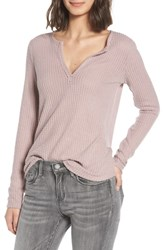 Socialite Thermal Henley Top Soft Rock