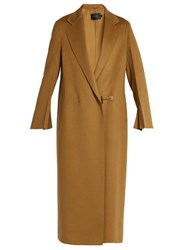 Calvin Klein Hens Single Breasted Double Faced Cashmere Coat Camel