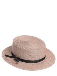 Superduper Flat Top Boater Straw Hat