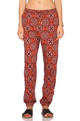 Obey Sofia Pant Red