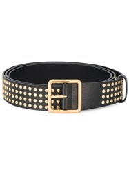 Alexander Mcqueen Gold Studded Leather Belt Leather Metal Other Black