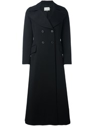 L'autre Chose Double Breasted Fitted Coat Black