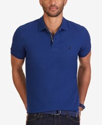 Nautica Men's Short Sleeve Performance Deck Polo Estate Blue