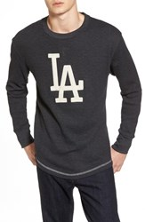 American Needle 'S Los Angeles Dodgers Embroidered Long Sleeve Thermal Shirt Black