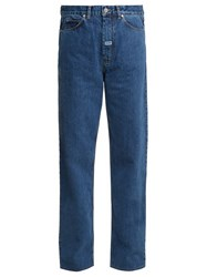 Martine Rose High Rise Relaxed Fit Straight Leg Jeans Indigo