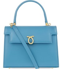 Launer Judi Leather Tote All Baby Blue