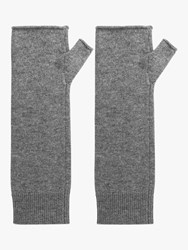 Gerard Darel Ilian Cashmere Wrist Warmer Gloves Grey