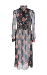 Red Valentino Embroidered Floral Dress Multi