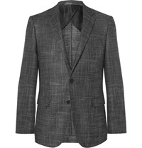 Hugo Boss Grey Slim Fit Virgin Wool Blend Blazer Gray