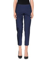 Philosophy Di Alberta Ferretti Trousers 3 4 Length Trousers Women Blue