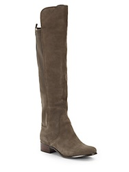 Charles By Charles David Jettison Suede Knee High Boots Taupe