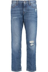 Iris And Ink Distresesd Boyfriend Jeans Navy