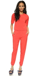 Shades Of Grey Woven Jumpsuit Blood Orange