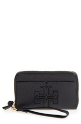 Tory Burch Women's Harper Leather Iphone 6 6S Wristlet Black