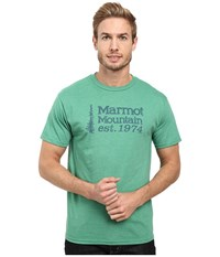 Marmot 74 Short Sleeve Tee True Green Heather Men's T Shirt