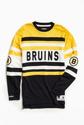 Mitchell And Ness Nhl Open Net Boston Bruins Long Sleeve Tee Yellow