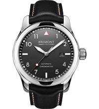 Bremont Solo Pb Stainless Steel And Calf Skin Leather Watch