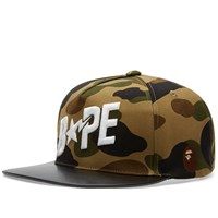 A Bathing Ape 1St Camo Snapback Green