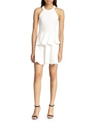 Elizabeth And James Harley Peplum T Back Dress Ivory