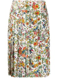 Tory Burch Floral Print Pleated Skirt 60
