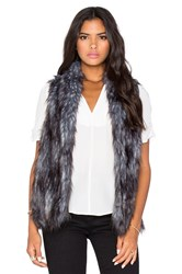 Bcbgeneration Faux Fur Vest Gray
