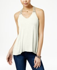 American Rag Crocheted Back High Low Tank Top Only At Macy's Egret