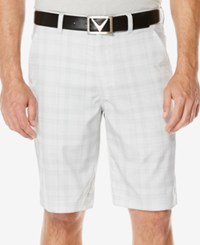 Callaway Men's Performance Plaid Flat Front Shorts High Rise